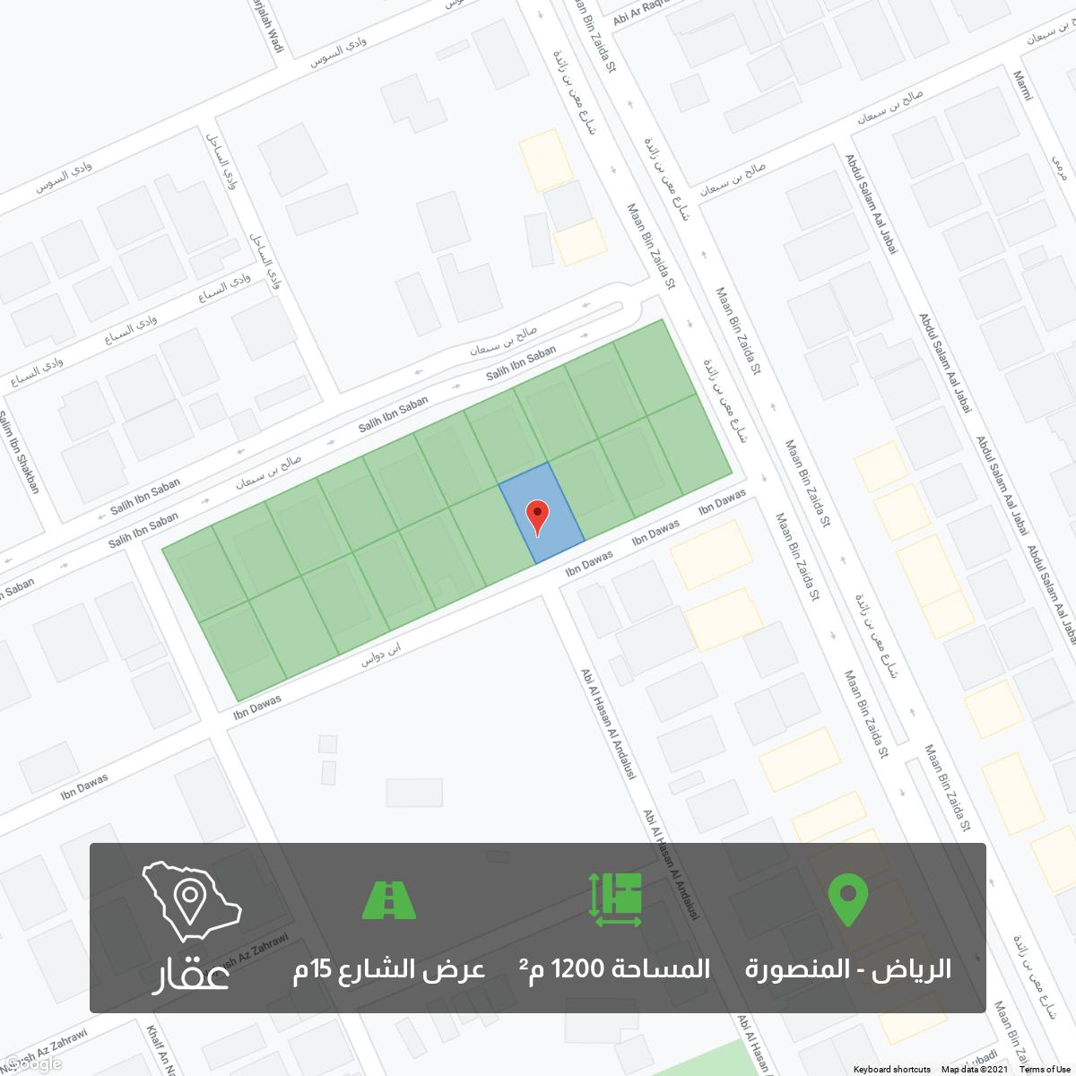 أرض للبيع في حي ، شارع ابن دواس ، حي المنصورة ، الرياض ، الرياض