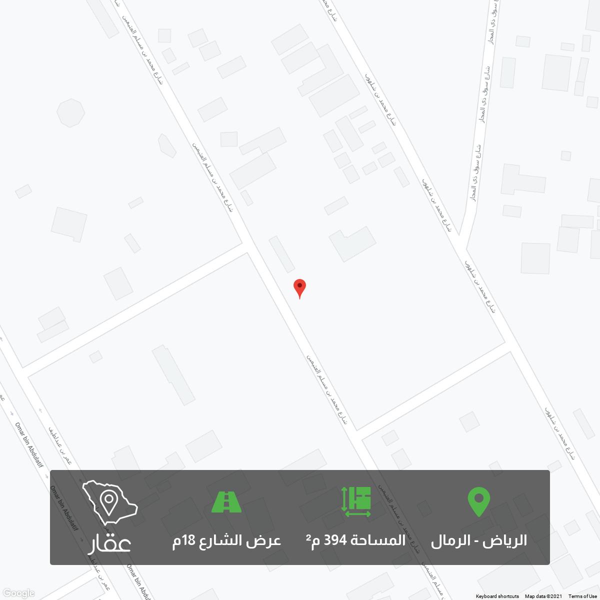 أرض للبيع في حي ، شارع المجد ، حي ظهرة لبن ، الرياض ، الرياض