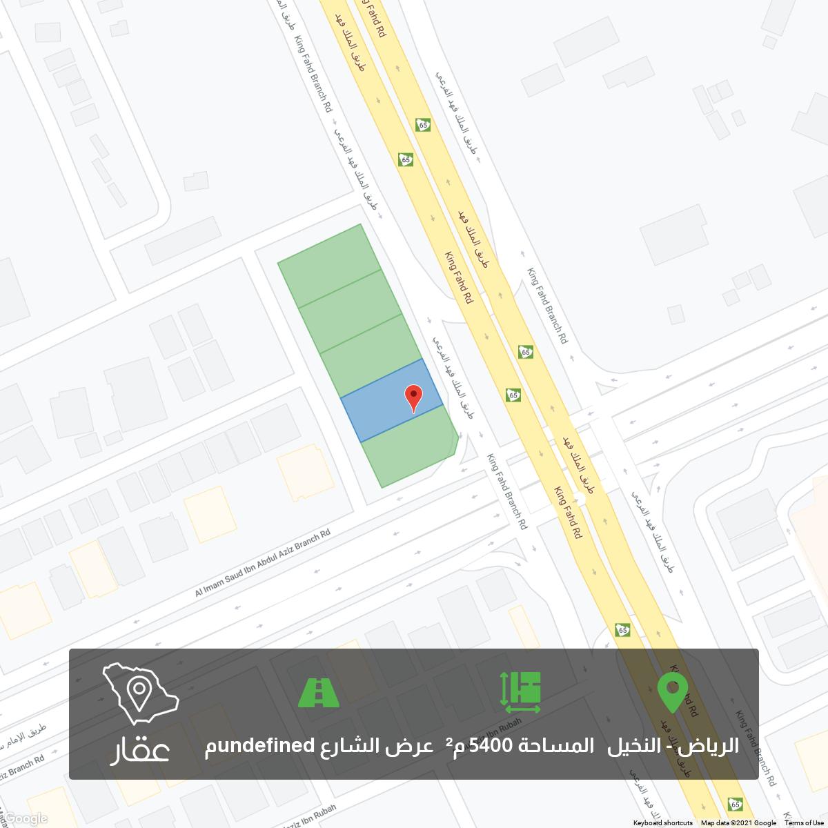 أرض للبيع في طريق الملك فهد الفرعي ، حي النخيل ، الرياض ، الرياض