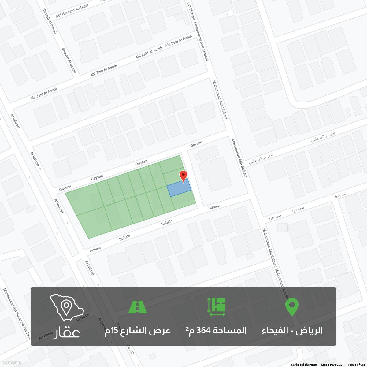 أرض للبيع في شارع قيسان ، حي الفيحاء ، الرياض ، الرياض