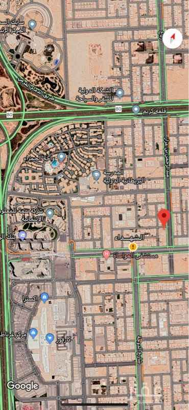أرض للبيع في شارع عبدالرحمن بن عزاز ، حي الشهداء ، الرياض