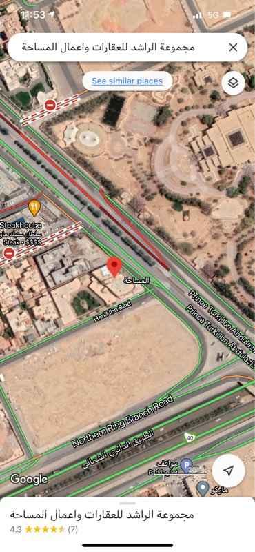 مكتب تجاري للإيجار في طريق الأمير تركي بن عبدالعزيز الأول ، حي حطين ، الرياض ، الرياض