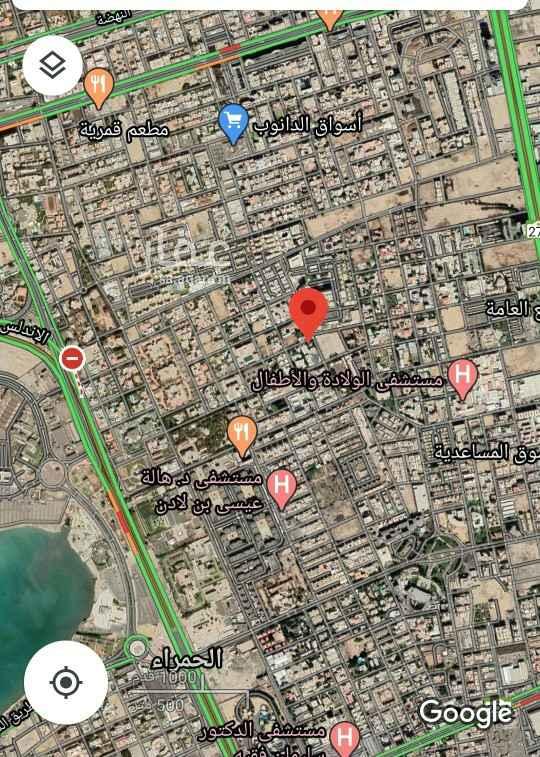 أرض للبيع في شارع الجواهري ، حي الحمراء ، جدة ، جدة