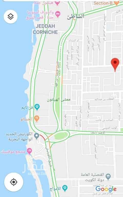 أرض للبيع في طريق الملك عبدالعزيز ، حي الشاطئ ، جدة