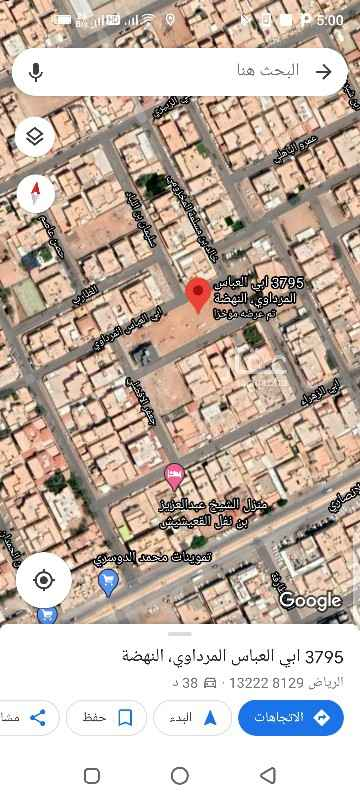أرض للبيع في شارع علي الزبيري ، حي النهضة ، الرياض ، الرياض
