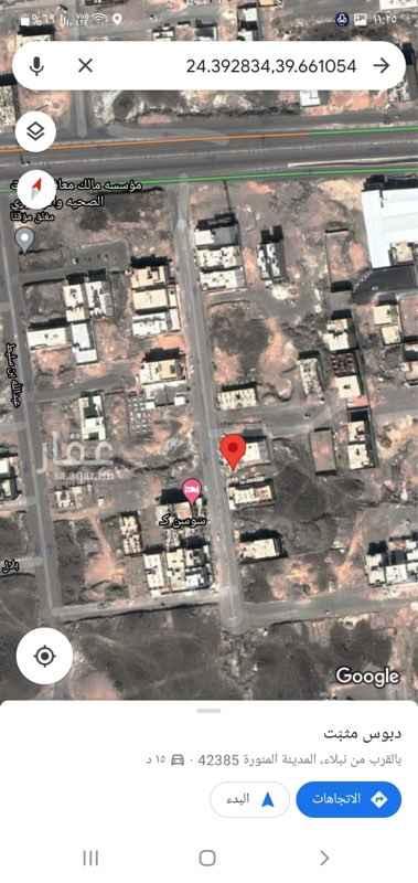 أرض للبيع في شارع ثعلبة الخشني ، حي نبلاء ، المدينة المنورة ، المدينة المنورة