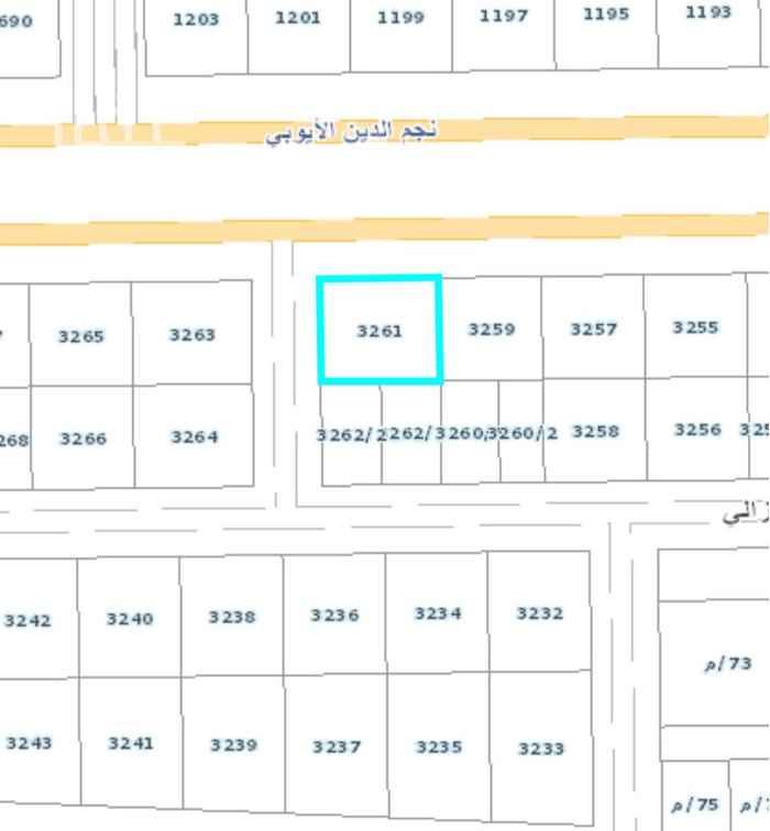 أرض للبيع في شارع نجم الدين الأيوبي الفرعي ، حي ظهرة نمار ، الرياض ، الرياض