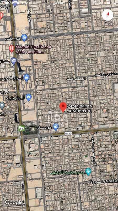 أرض للبيع في شارع عبدالله بن الارقم ، حي الملك فهد ، الرياض ، الرياض