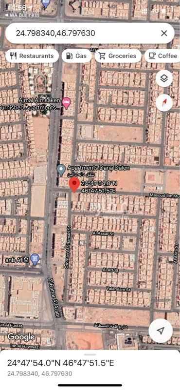 أرض للبيع في شارع مسعود بن مضيان ، حي اشبيلية ، الرياض ، الرياض