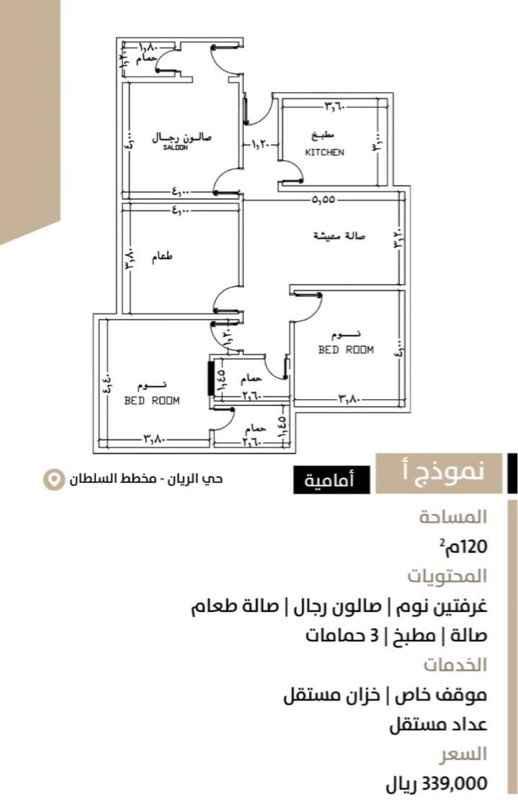 شقة للبيع في شارع أبو محمد الخبري ، حي الريان ، جدة ، جدة