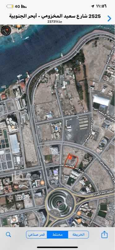 أرض للبيع في شارع سعيد المخزومي ، حي ابحر الجنوبية ، جدة ، جدة