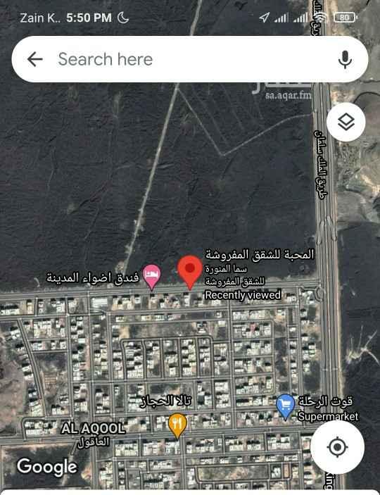 أرض للإيجار في حي ، شارع سواد بن غزية ، حي العاقول ، المدينة المنورة ، المدينة المنورة