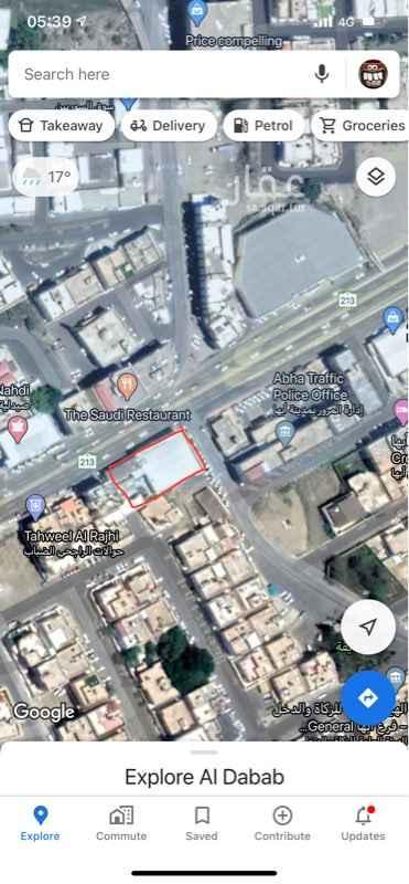 أرض للإيجار في طريق الملك عبدالعزيز ، حي الضباب ، أبها ، أبهــــا