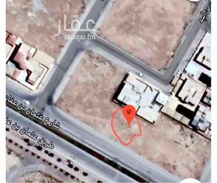 أرض للبيع في شارع عثمان بن عفان ، حي المروج ، المجمعة