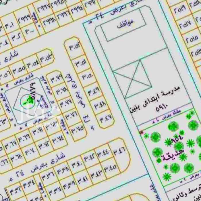 أرض للبيع في شارع خبيب بن عبدالله بن الزبير ، حي الملك فهد ، المدينة المنورة