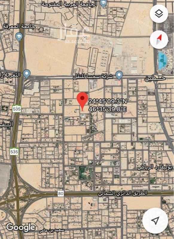 أرض للبيع في شارع محايل ، حي حطين ، الرياض ، الرياض