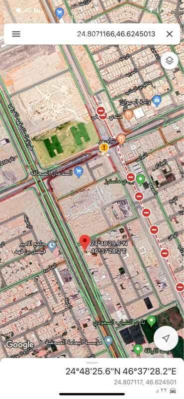 أرض للبيع في طريق الملك فهد الفرعي ، حي الصحافة ، الرياض