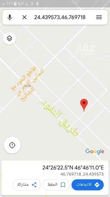 أرض للإيجار في طريق النفود ، حي عريض ، الرياض