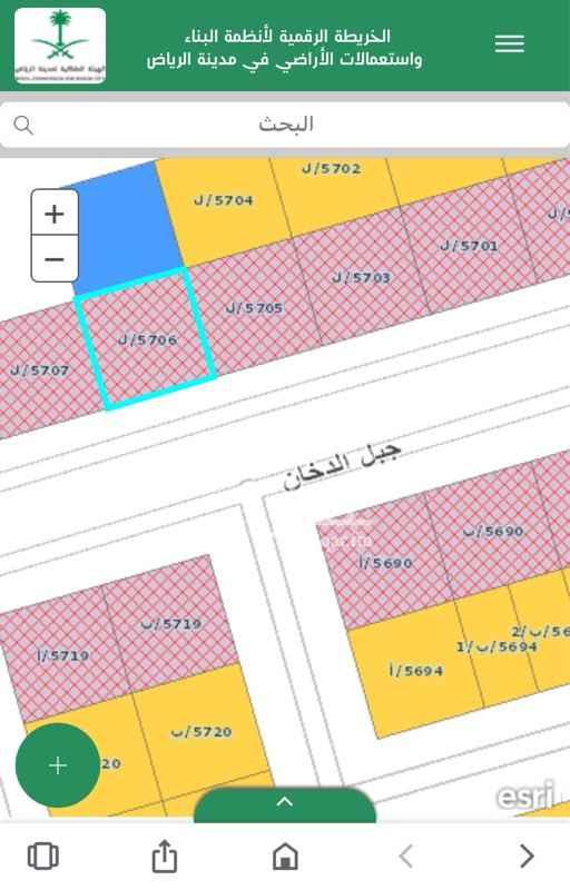 أرض للبيع في شارع جبل الدخان ، حي ظهرة لبن ، الرياض ، الرياض