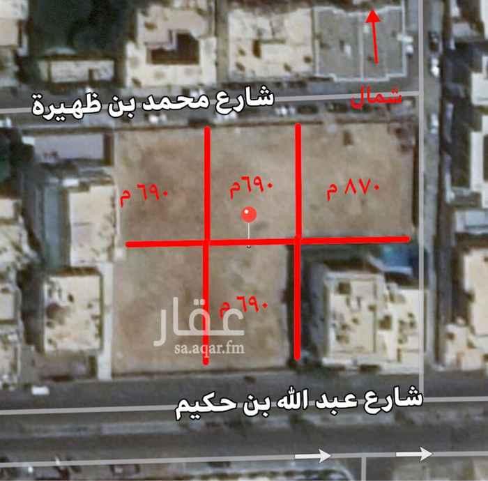 أرض للبيع في شارع عبدالله بن حكيم ، حي الشاطئ ، جدة ، جدة