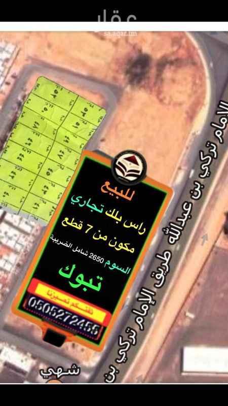 أرض للبيع في شارع عامر بن يزيد ، حي المنشية القديمة ، تبوك