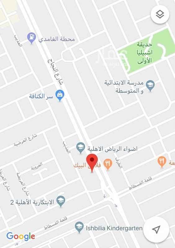 أرض للإيجار في شارع النجاح ، حي اشبيلية ، الرياض