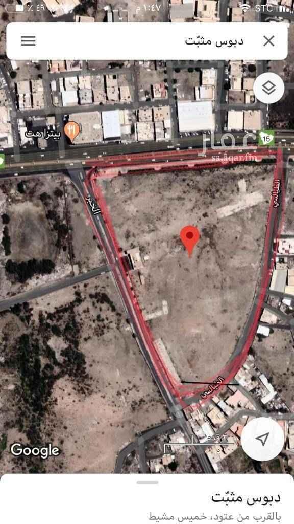 أرض للبيع في طريق الملك فهد ، حي المعزاب ، خميس مشيط