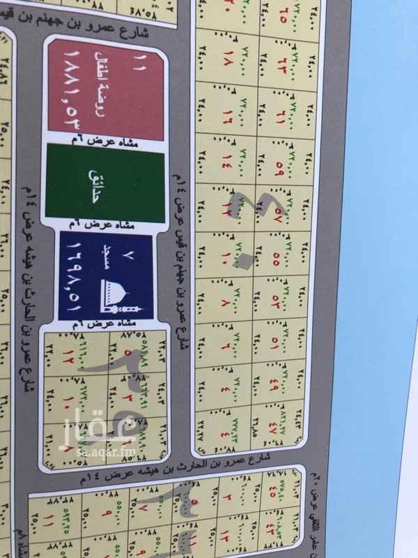 أرض للبيع في شارع عمرو بن الحارث بن هيشة ، حي قلعة مخيط ، المدينة المنورة