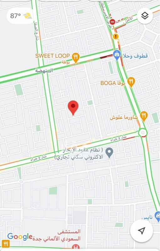 أرض للبيع في شارع المصابيح المنيرة ، حي النهضة ، جدة ، جدة