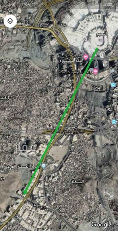 أرض للبيع في شارع ابراهيم الخليل ، حي جرهم ، مكة