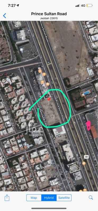 أرض للبيع في طريق الامير سلطان ، حي النهضة ، جدة ، جدة