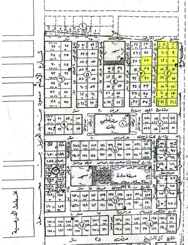 أرض للبيع في شارع ابن فلاح ، حي الخالدية - الدرعية ، الرياض ، الرياض