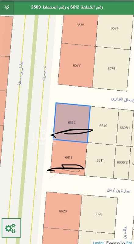 أرض للبيع في شارع عثمان بن صدقة ، الرياض
