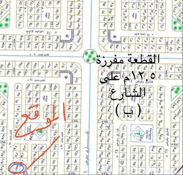 أرض للبيع في شارع الربيع بن خثيم الثوري ، حي الملك فهد ، المدينة المنورة ، المدينة المنورة