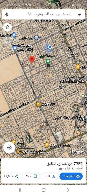 أرض للبيع في شارع نخلان الشرقية ، حي العقيق ، الرياض ، الرياض