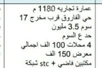 عمارة للبيع في طريق الامير سلمان بن عبدالعزيز ، حي الفاروق ، الرياض ، الرياض