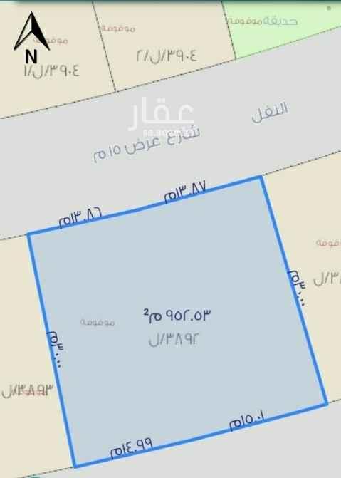أرض للبيع في شارع النفل ، حي ظهرة لبن ، الرياض ، الرياض