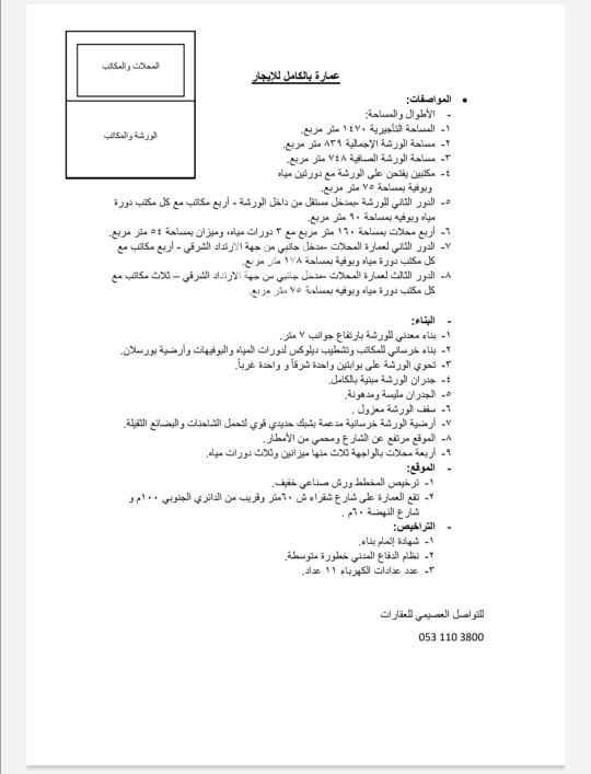 عمارة للإيجار في الرياض ، حي الفيصلية ، الرياض