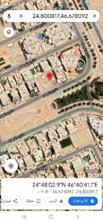 أرض للبيع في شارع رقم 15 ، حي الندى ، الرياض ، الرياض
