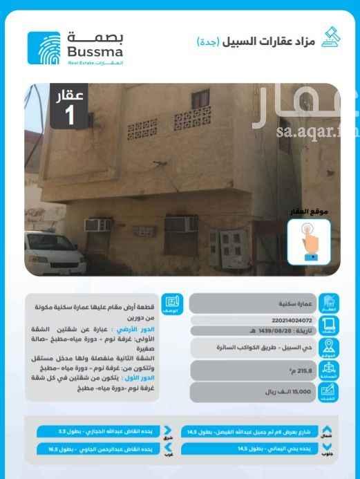 بيت للبيع في شارع زقاق دعيان ، حي البلد ، جدة ، جدة