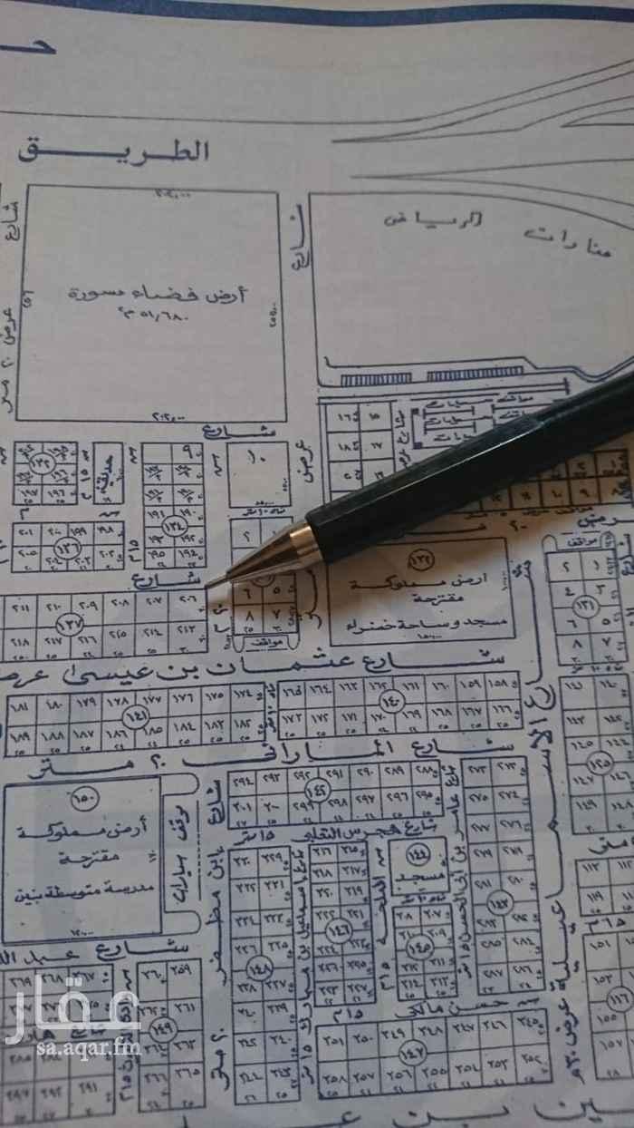 أرض للبيع في شارع عثمان بن عيسى ، حي الازدهار ، الرياض