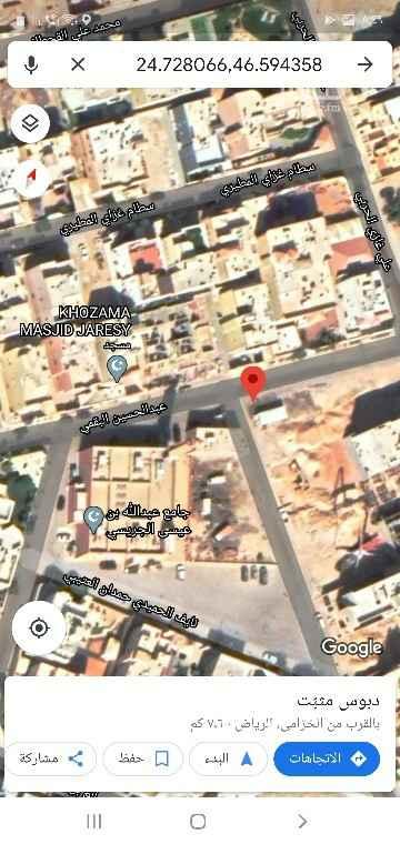 أرض للبيع في شارع عبدالحسين البقمي ، حي الخزامى ، الرياض ، الرياض
