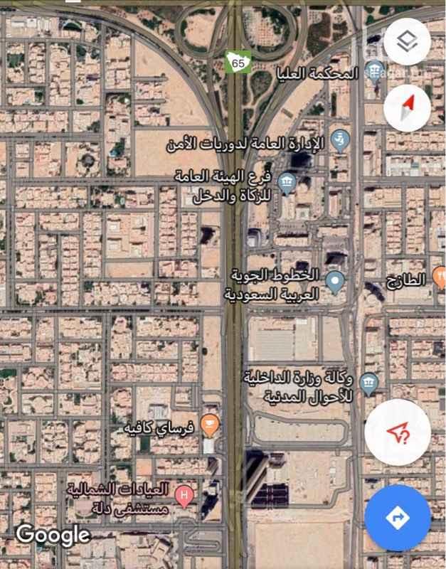 أرض للإيجار في شارع وادي المقراه ، حي النخيل ، الرياض