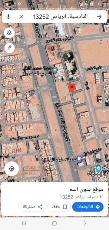أرض للبيع في شارع الشيخ جابر الاحمد الصباح ، حي القادسية ، الرياض ، الرياض