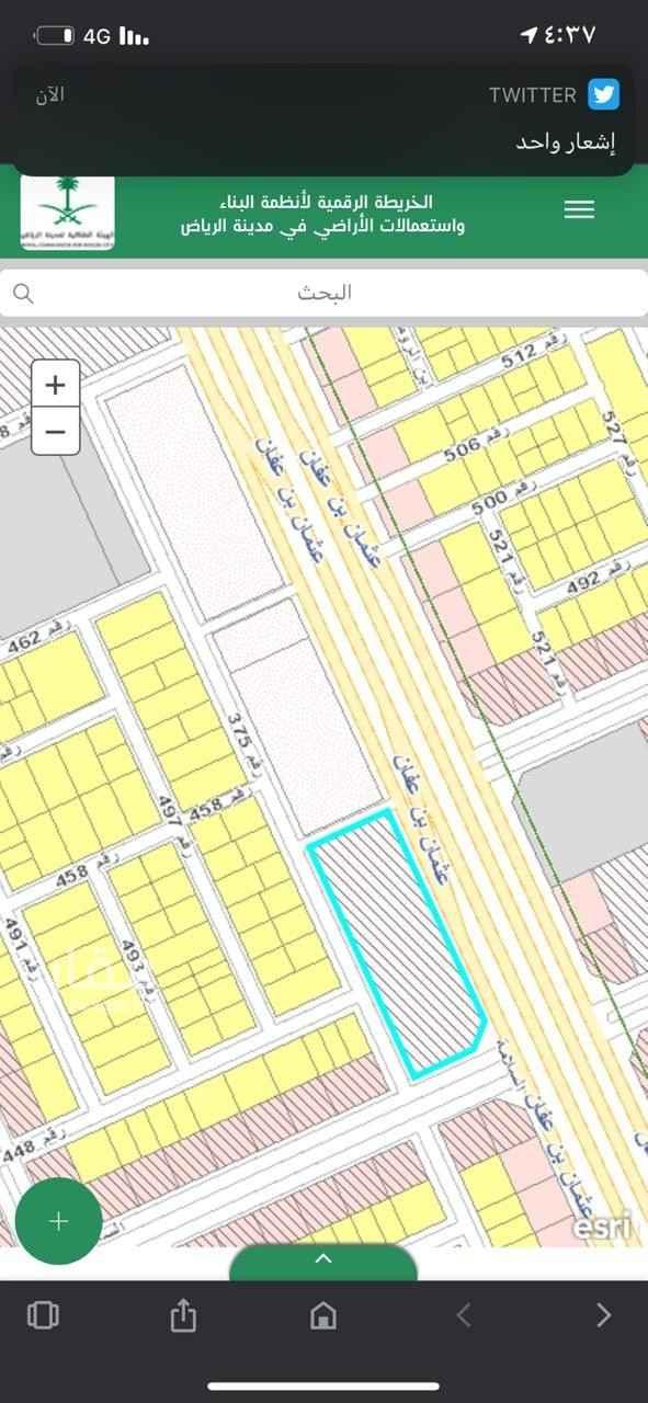أرض للإيجار في شارع رقم 375 ، حي النرجس ، الرياض ، الرياض