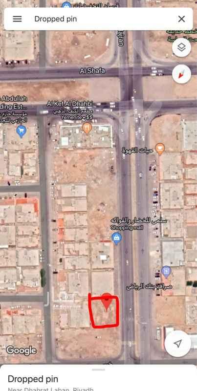 أرض للإيجار في شارع نجران ، حي ظهرة لبن ، الرياض
