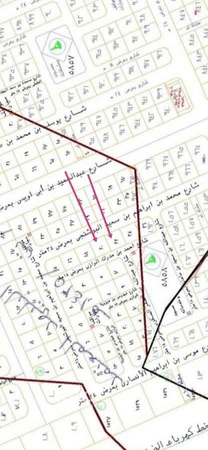 أرض للبيع في شارع احمد بن مدرك الرازي ، حي الملك فهد ، المدينة المنورة ، المدينة المنورة