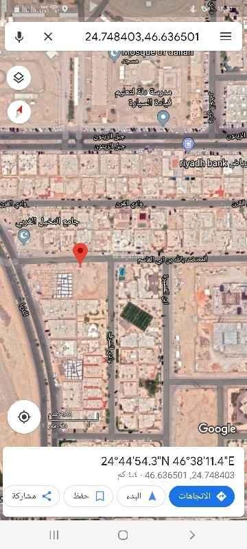 أرض للبيع في شارع المعتضد بالله بن ابي القاسم ، حي النخيل ، الرياض