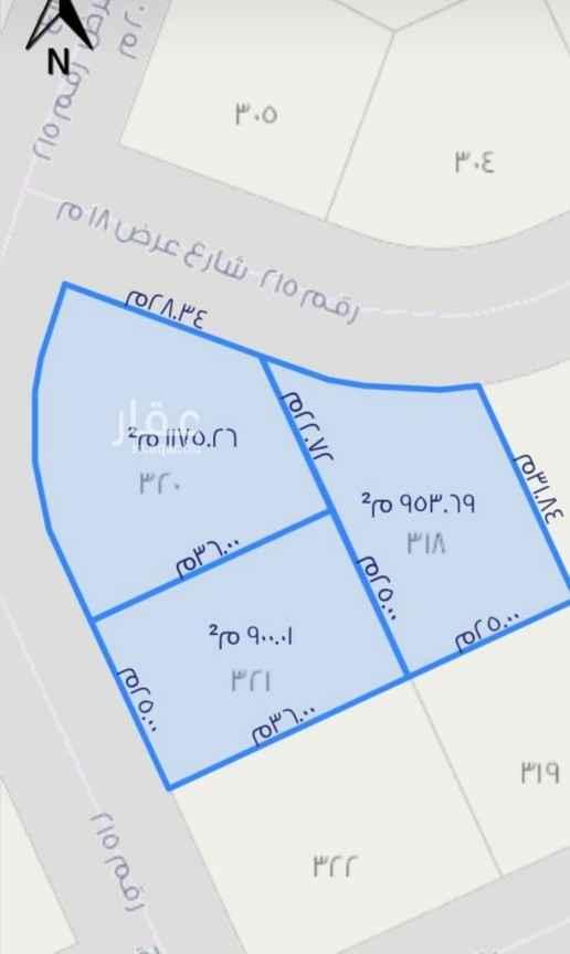 أرض للبيع في شارع رقم 207 ، حي الملقا ، الرياض ، الرياض