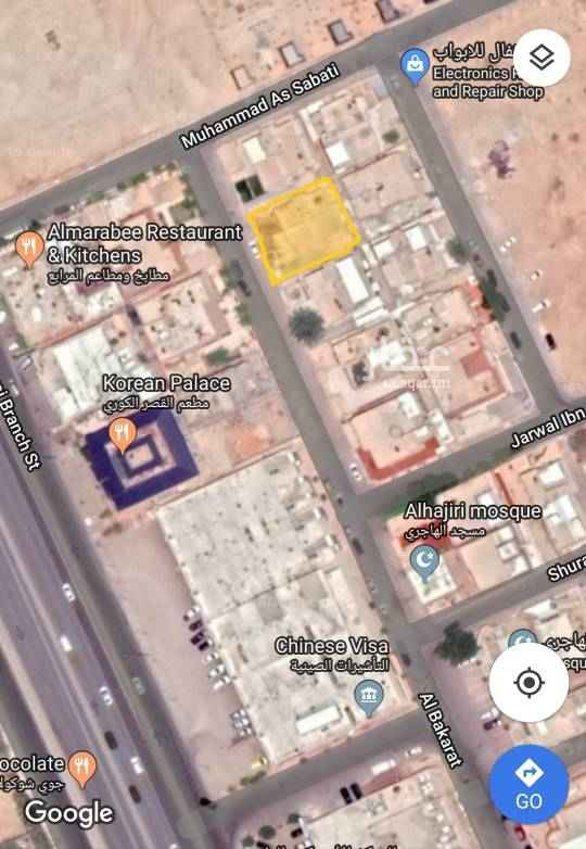 أرض للبيع في شارع البكرات ، حي الرحمانية ، الرياض